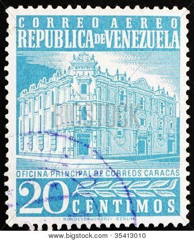 Postage stamp Venezuela 1958 Main Post Office, Caracas