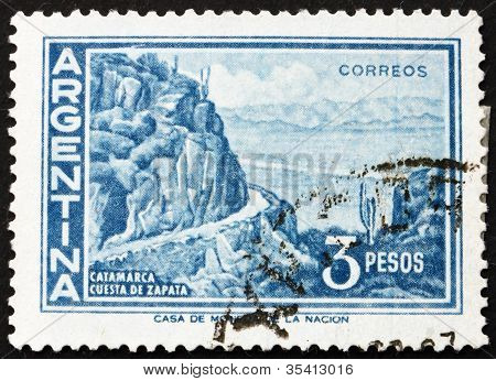 Postage stamp Argentina 1960 Zapata Slope, Catamarca