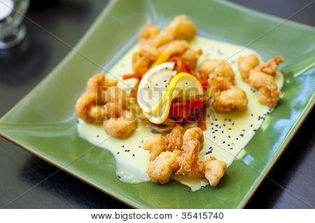 Prawn Wasabi With Honey Souse