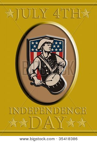 American Patriot Independence Day Poster Greeting Card