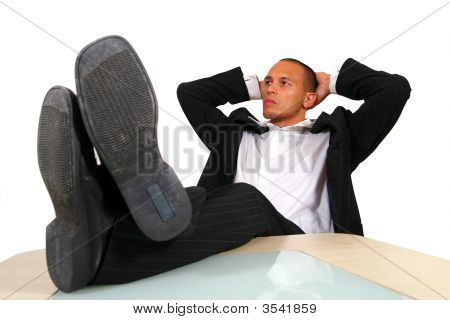 Relaxed Businessman In Office