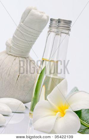 on white