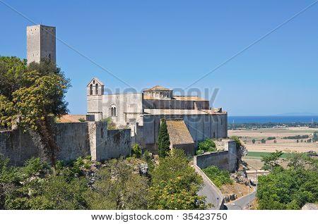 Panoramic view of Tarquinia. Lazio. Italy.
