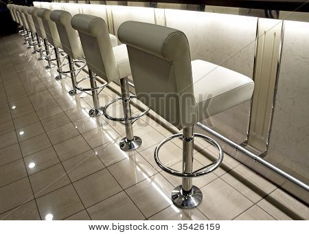 Row Of Bar Stools