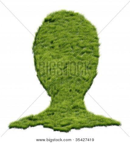 Grass Shaped Human Head