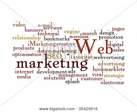 Web Marketing Word Cloud Isolated