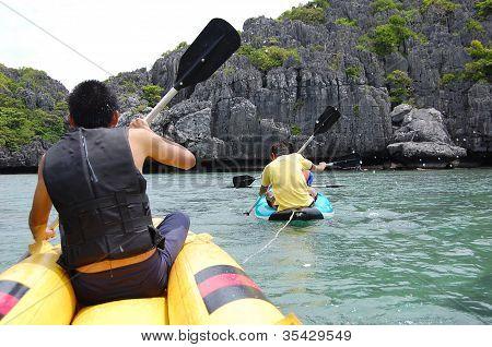 kayaking at Koh Samui