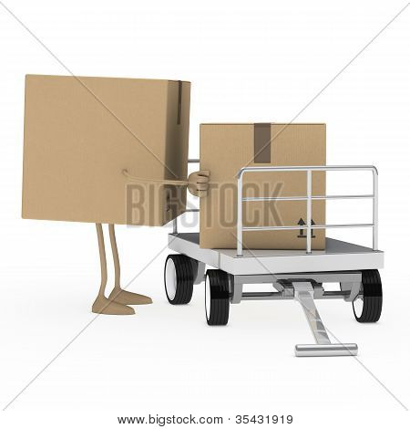 Package Figure Load Trolley