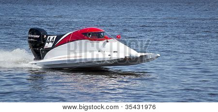 Vyshgorod, Ukraine - July 20 : Powerboat Team Of Nautica F1 Fast Speed, Pilot Gers Sunthe- Kars . Gr