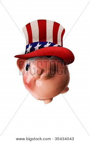 Patriotic Piggy Bank.