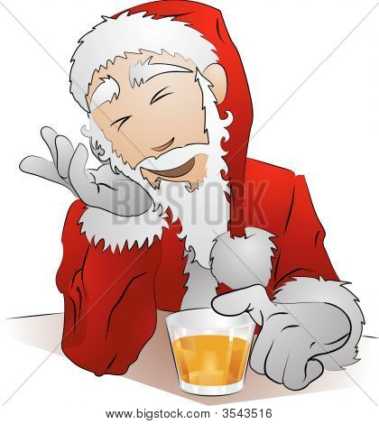 Illustration Of Drunk Santa Claus