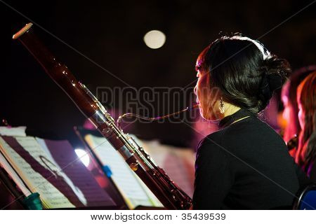 Korean Woman Symphany Orchestra Bassoon