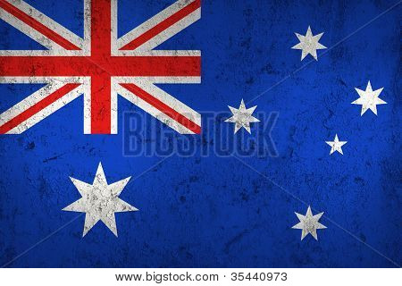 Grunge Dirty And Weathered Australian Flag