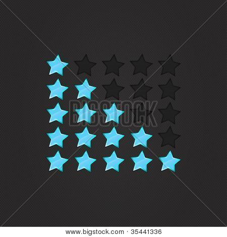 Glossy Rating Stars Violet