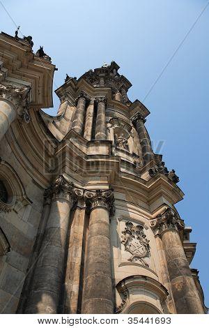 Gothic Belfry In Dresden