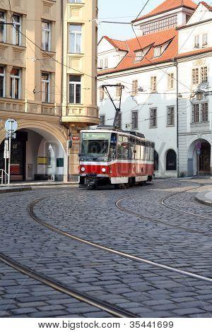 Street Railway In Prague