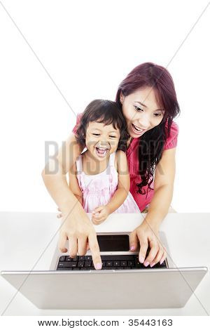 Enjoying Entertainment On Laptop