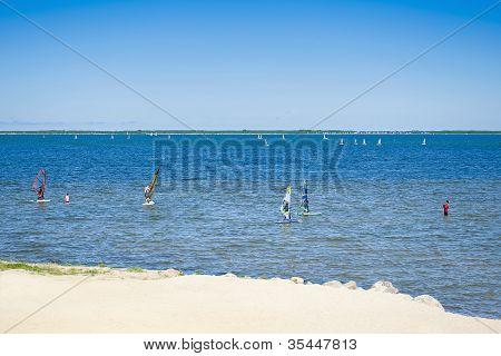 Paisaje marino de verano