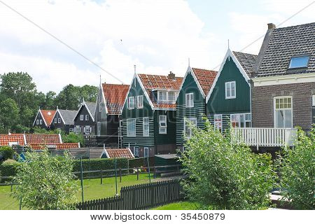 Houses On The Island Of Marken. Netherlands