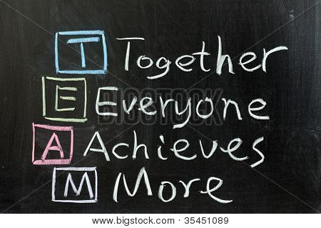 Team: Together, Everyone, Achieves, More