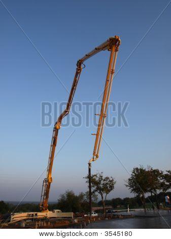 Concrete Pump  Vertical View