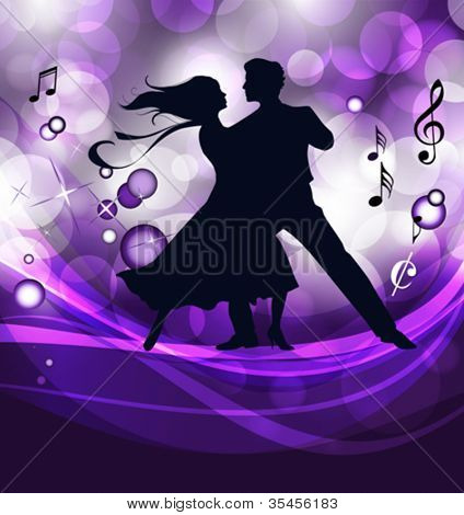 Ballroom dancers. This illustration is an EPS10 file and contains several transparencies blend, its easily editable. Vector illustration scale to any size.