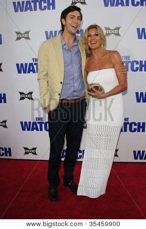 LOS ANGELES - JUL 23: Nicholas Braun, mother Elizabeth Lyle at the premiere of