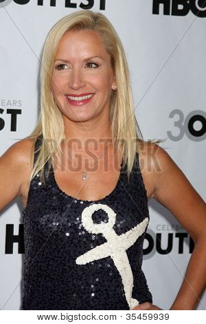 LOS ANGELES - JUL 22:  Angela Kinsey arrives agt the 2012 Outfest Closing Night Gala of