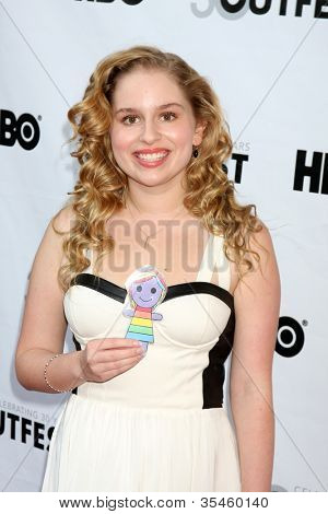 LOS ANGELES - JUL 22:  Allie Grant arrives agt the 2012 Outfest Closing Night Gala of
