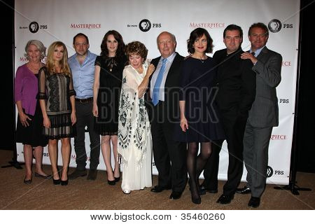 LOS ANGELES - JUL 21:  Downton Abbey Cast and Execs at a photocall for