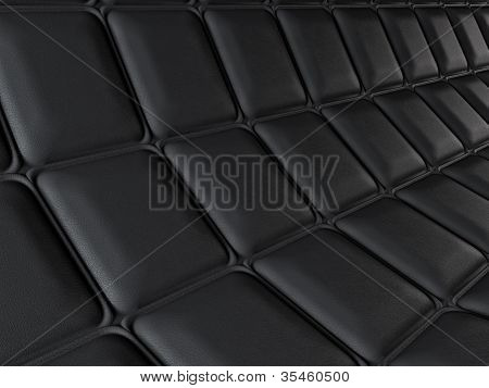 Incurved Leather Pattern With Rectangle Segments
