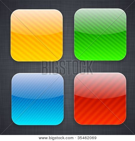 Vector illustration of high-detailed striped apps icon templates.