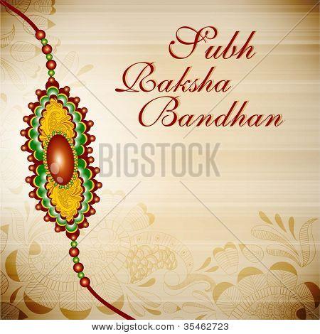 Illustration of a Rakhi for Raksha Bandhan festival. EPS 10.