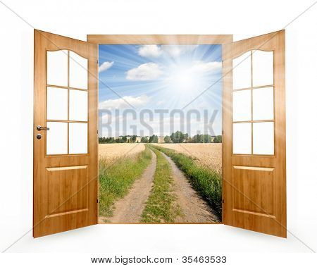 Open the door to way the field
