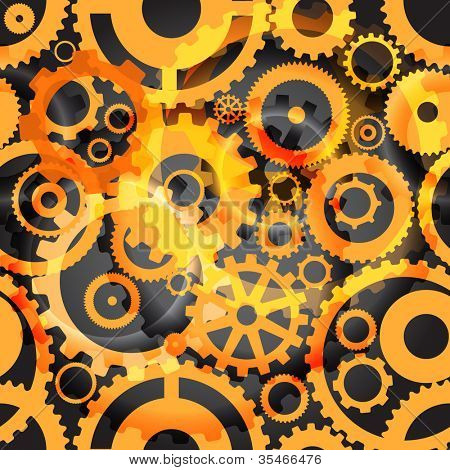 Background or different gear wheels