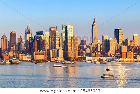 Manhattan Skyline van New Jersey