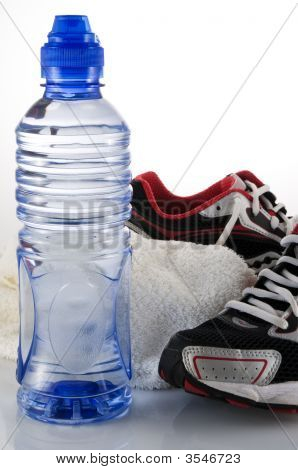 Water Towel And Running Shoes