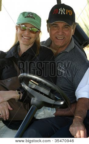 PALM SPRINGS - FEB 7: Tony Lobianco, wife at the 15th Frank Sinatra Celebrity Invitational Golf Tournament at Desert Willow Golf Course on February 7, 2003 in Palm Springs, California