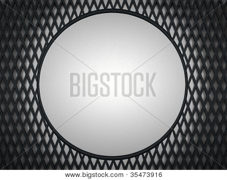 Leather Background: Grey Circle And Meshy Pattern