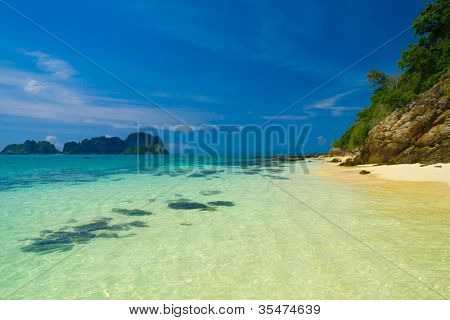 Sunshine Scene Lagoon Landscape