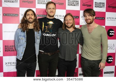 LOS ANGELES - JULY 25: Imagine Dragons at Billabong's 6th Annual Design For Humanity Event at Paramount Studios on July 25, 2012 in Los Angeles, California