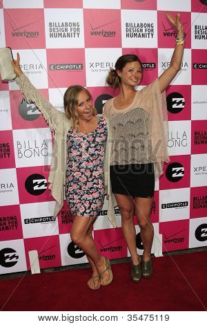 LOS ANGELES - JULY 25: Jamie Anderson, Helen Schettini at Billabong's 6th Annual Design For Humanity Event at Paramount Studios on July 25, 2012 in Los Angeles, California