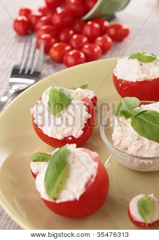 tomato stuffed with cheese