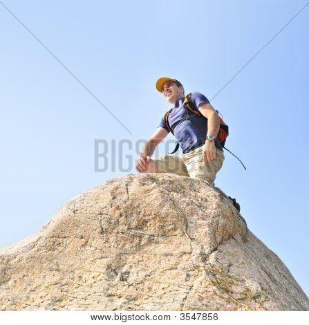 Klettern Mann