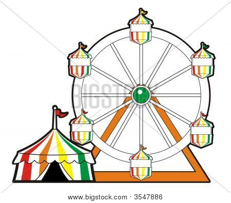 Circus Tent With Ferris Wheel