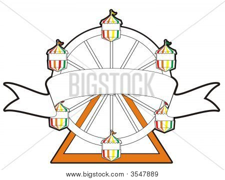 Ferris Wheel With A Banner