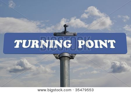 Turing point road sign