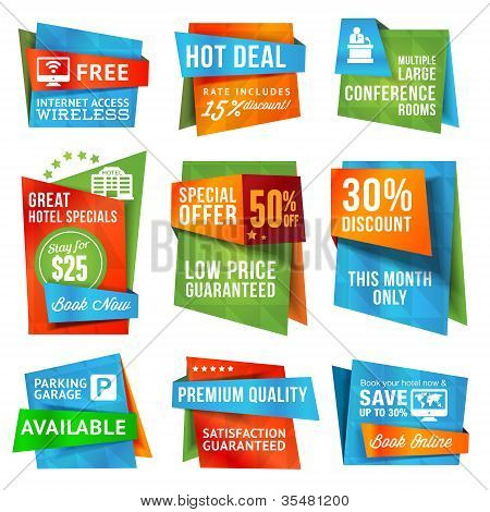 Set of special offer labels and banners
