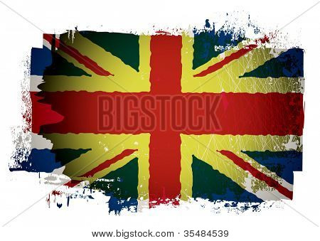 Grunge effect british union jack flag
