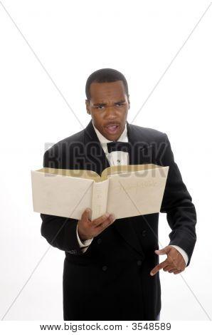African American Preacher Giving Sermon